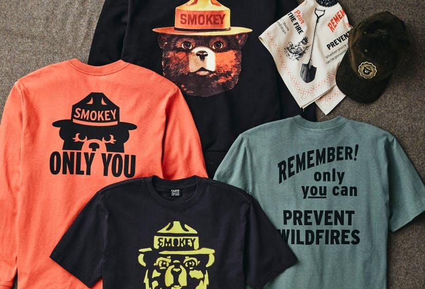 Collection of Smokey Gear and Apparel