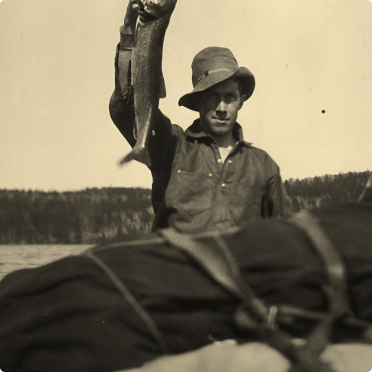 Man holding up a fish